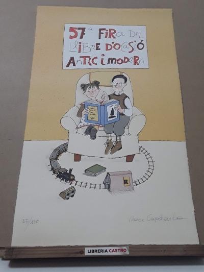 Litografía de Roser Capdevila. 57ª Fira del Llibre d'Ocasió Antic i Modern 53/130 - Roser Capdevila