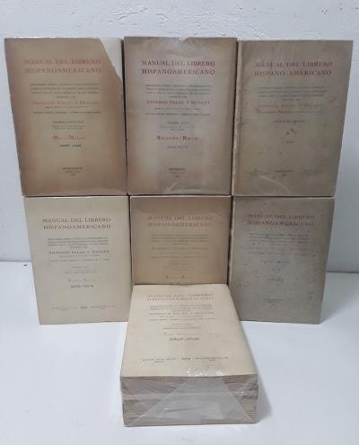Manual del Librero Hispano-Americano. Segunda edición corregida y aumentada por el autor (XXVIII tomos) - Antonio Palau y Dulcet