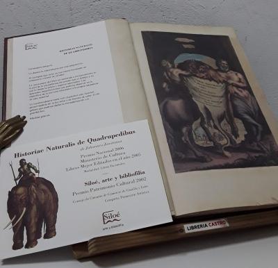 Historiae Naturalis de Quadrupedibidus (Facsímil y Numerado) Estudios y traducción de la edición facsimilar (II Tomos) - Johannes Jonstonus