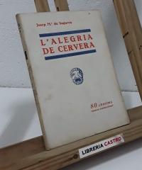 L´alegria de Cervera - Josep Maria de Sagarra