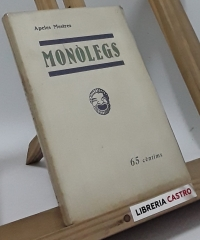 Monòlegs. Siluetes Barcelonines - Apeles Mestres