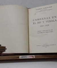 Campañas en el Rif y Yebala 1921-1922 - Berenguer