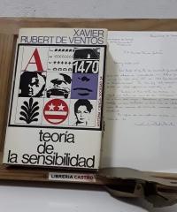 Teoría de la sensibilidad (Dedicado por el autor a Enrique Tierno Galván) - Xavier Rubert de Ventós