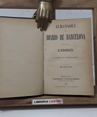 Almanaque del Diario de Barcelona. Año 1886 - Varios