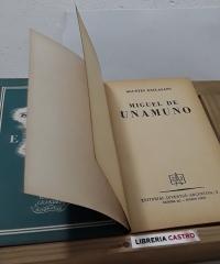 Miguel de Unamuno - Agustín Esclasans