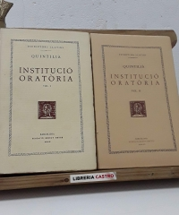 Institució Oratòria (Volums I i II) - Quintilla