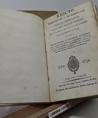 Edicto publicado en 22 de marzo 1734 para la observancia de los nuevos aranzeles generales - Varios