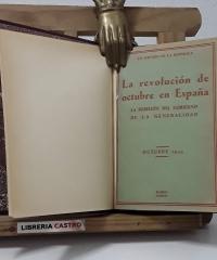 La Revolución de Octubre en España. La Rebelión del Gobierno de la Generalidad - Varios