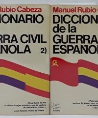 Diccionario de la guerra civil española (II tomos) - Manuel Rubio Cabeza