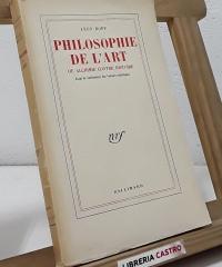 Philosophie de l'Art. Ou alchimie contre histoire - Léon Bopp