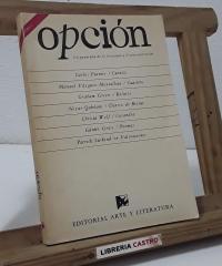 Opción 1989 - 1. Un panorama de la literatura y el arte universales - Varios