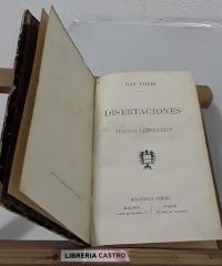 Disertaciones y juicios literarios - Juan Valera