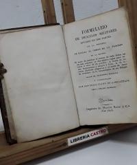 Formulario de procesos militares dividido en dos partes - Felix Colon de Larriategui