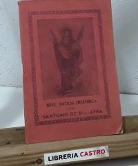 Breu noticia histórica del Santuari de Santa Afra - Lluis Carbonell
