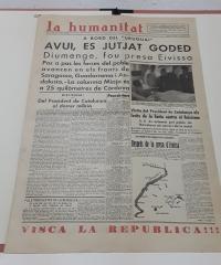 La Humanitat (diari, any V, núm 1391, dimarts 11 d´agost 1936) - Varios