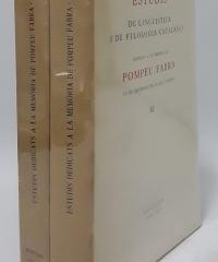 Estudis de lingüistica i de filologia catalanes (II volums) - Varios