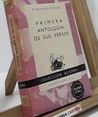 Primera antología de sus versos - Gerardo Diego