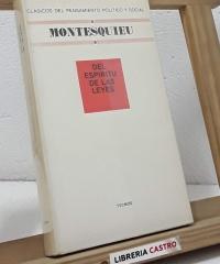 Del espiritu de las leyes - Montesquieu
