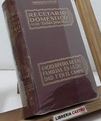 Recetario Doméstico. Con 6690 recetas prácticas - Italo Ghersi Ing. y A. Castoldi Dr.