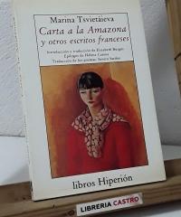 Carta a la amazona y otros escritos franceses en prosa y  verso - Marina Tsvietáieva