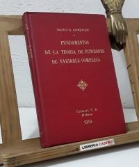 Fundamentos de la teoría de funciones de variable compleja - Mario O. González