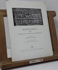 Repertorium der Christlich-Antiken Sarkophage. Erster band Rom und Ostia - Friedrich Wilhelm Deichmann