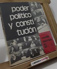Poder Político y Constitución - Varios