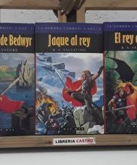 La sombra carmesí. I- La espada de Bedwyr, II- Jaque al Rey y III- El Rey Dragón (III tomos) - R. A. Salvatore