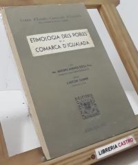 Etimología dels pobles de la Comarca d´Igualada - Amadeu Amenós Roca, Pvre