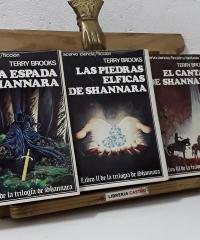 Trilogía de Shannara. 1 La espada de Shannara. 2 Las piedras élficas de Shannara. 3 El cantar de Shannara (III Tomos) - Terry Brooks
