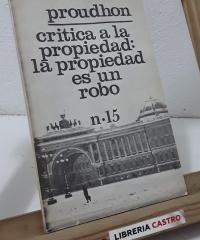 Critica a la propiedad: La propiedad es un robo - Proudhon