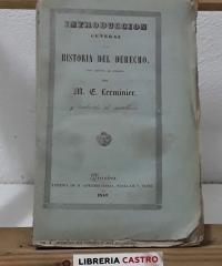 Introducción general a la historia del derecho - M. E. Lerminier