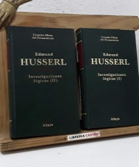 Investigaciones lógicas (II Tomos) - Edmund Husserl