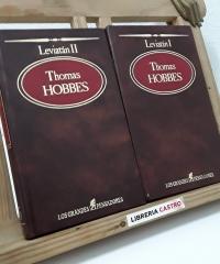 Leviatán o la materia, forma y poder de un república eclesiástica civil.  (II Tomos) - Thomas Hobbes
