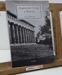 Arquitectura griega y romana - D. S. Robertson