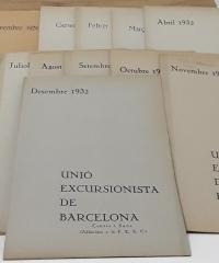 Unió Excursionista de Barcelona. Butlletins 1931-1932 (XIV butlletins) - Varios