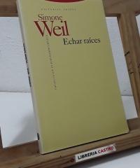 Echar raíces - Simone Weil