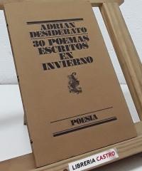 30 poemas escritos en invierno - Adrián Desiderato