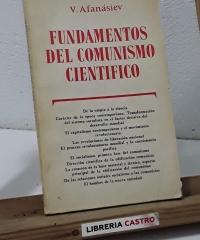 Fundamentos del comunismo científico - V. Afanásiev