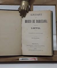 Almanaque del Diario de Barcelona. Año 1878 - Varios