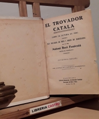Lo Trovador Català - A. Bori i Fontestá