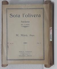 Sota l'olivera. Partitura de Sardana per a piano - Marià Miró i Guitó