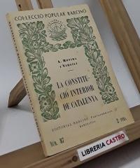 La constitució interior de Catalunya - Antoni Rovira i Virgili